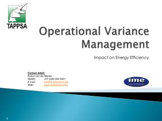 Operational Variance Management
