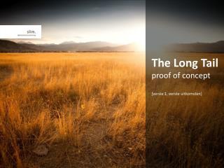 The Long Tail proof of concept [versie 1, eerste uitkomsten]