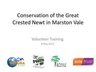 Conservation of the Great Crested Newt in Marston Vale