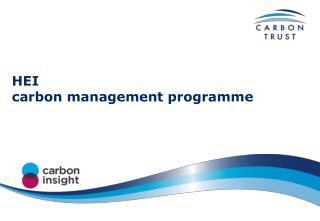 HEI carbon management programme