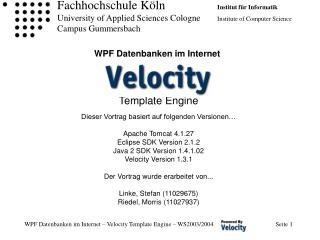 WPF Datenbanken im Internet
