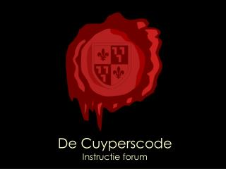 De Cuyperscode Instructie forum