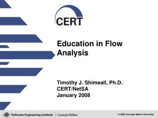 Education in Flow Analysis