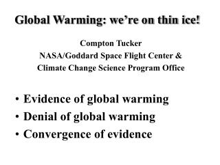 Global Warming: we're on thin ice!