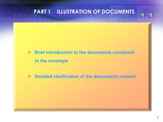PART 1    ILLUSTRATION OF DOCUMENTS
