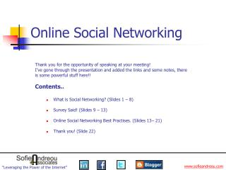 Online Social Networking