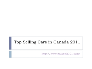 Canada's best selling cars of 2011