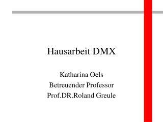 Hausarbeit DMX