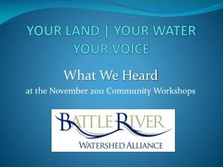 YOUR LAND | YOUR WATER YOUR VOICE