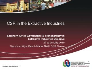 CSR in the Extractive Industries