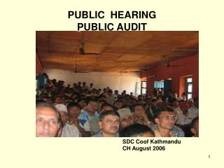 PUBLIC  HEARING PUBLIC AUDIT