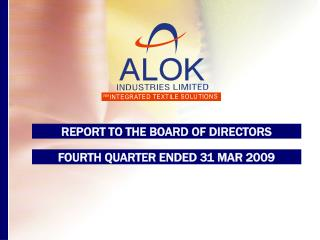 REPORT TO THE BOARD OF DIRECTORS