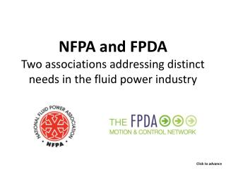 NFPA and FPDA Two associations addressing distinct needs in the fluid power industry