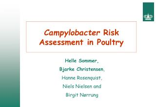 Campylobacter  Risk Assessment in Poultry