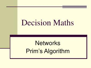 Decision Maths