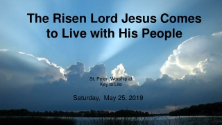 I Know That My Redeemer Lives I know that my Redeemer lives; What comfort this sweet sentence gives He lives, He lives,