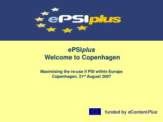 ePSI plus  Welcome to Copenhagen