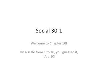 Social 30-1