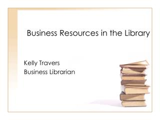 Business Resources in the Library