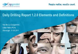 Daily Drilling Report 1.2.0 Elements and Definitions