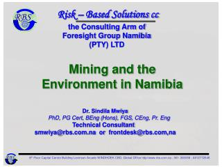 Mining and the Environment in Namibia