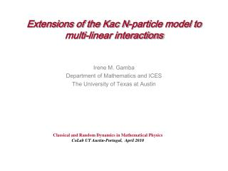 Extensions of the Kac N-particle model to  multi-linear interactions