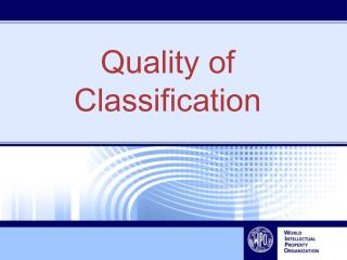Quality  of Classification