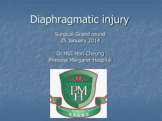 Diaphragmatic injury