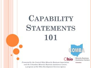 Capability Statements 101