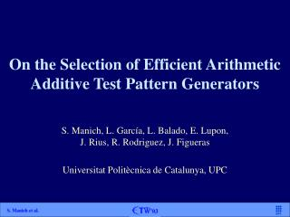 On the Selection of Efficient Arithmetic Additive Test Pattern Generators