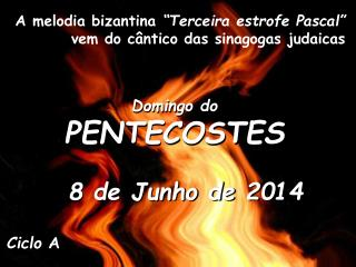 Domingo do PENTECOSTES