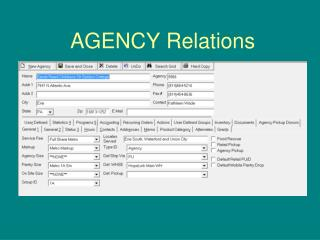 AGENCY Relations
