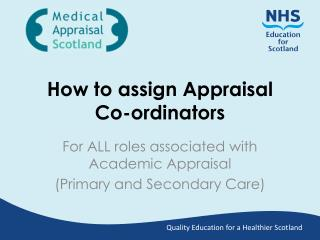 How to assign Appraisal Co-ordinators