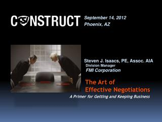 The Art of              Effective Negotiations