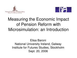 Measuring the Economic Impact of Pension Reform with Microsimulation: an Introduction