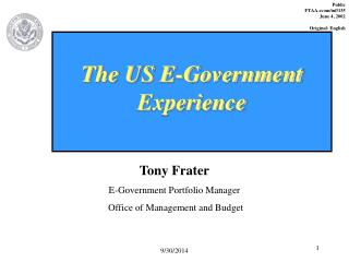 The US E-Government Experience