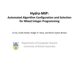 Hydra-MIP:  Automated Algorithm Configuration and Selection  for Mixed Integer Programming