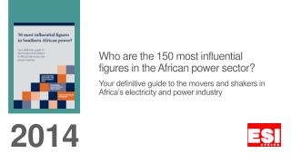 Who are the 150 most influential figures in the African power sector?