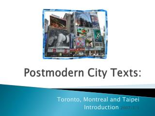 Postmodern City Texts: