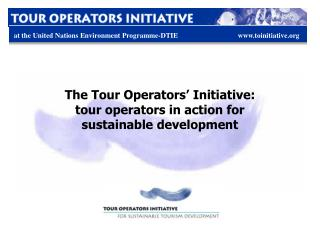The Tour Operators' Initiative: tour operators in action for sustainable development