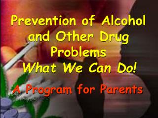 Prevention of Alcohol and Other Drug Problems What We Can Do!