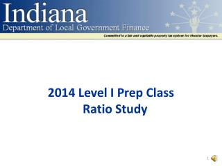2014 Level I Prep Class Ratio Study