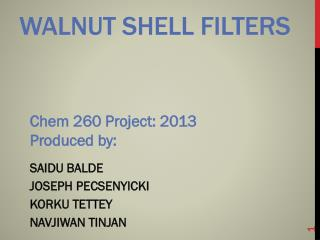 Walnut shell filters