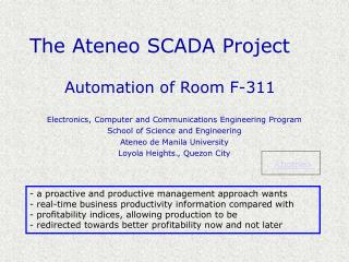 The Ateneo SCADA Project