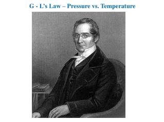 G - L's Law – Pressure vs. Temperature