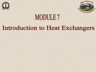 Introduction to Heat Exchangers