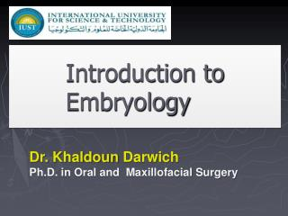 Introduction to Embryology