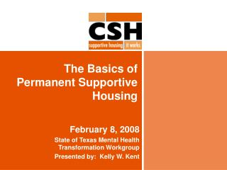 The Basics of Permanent Supportive Housing