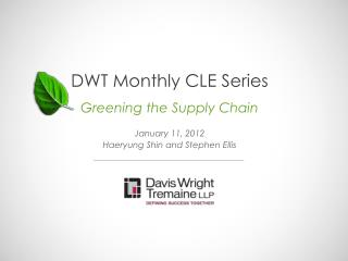 DWT Monthly CLE Series