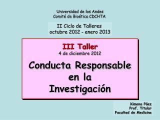 Universidad de los Andes Comité de Bioética CDCHTA